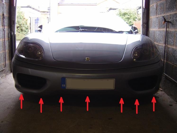 Ferrari 360 Front Bumper Removal