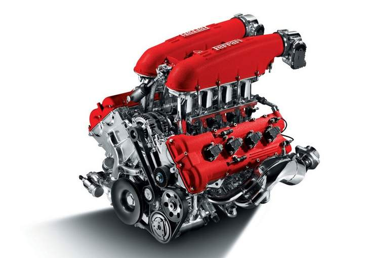 F430 Engine View