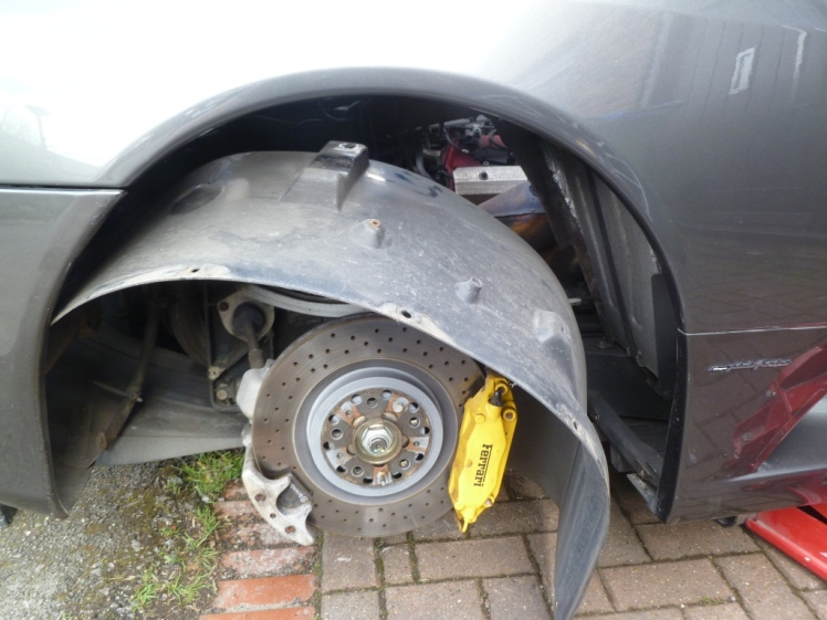 Removing the wheel arch liners