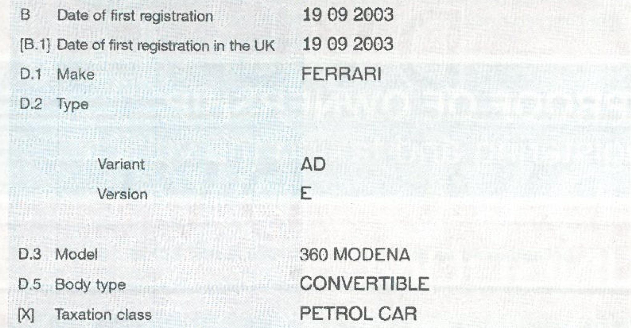 Ferrari 360 Amp F430 Uk Production Numbers Aldous Voice